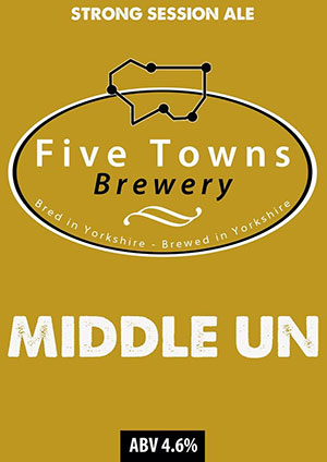 middle un brewed by Five Towns Brewery
