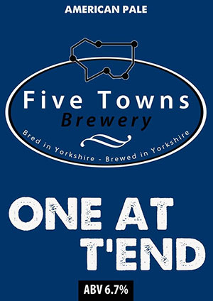 one at tend brewed by Five Towns Brewery