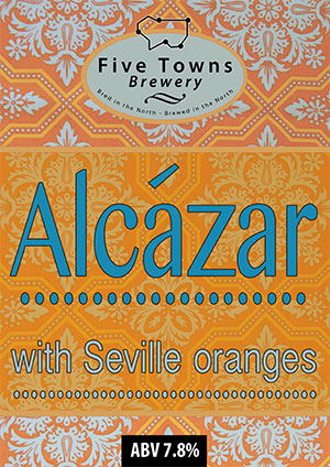 Alcazar brewed by Five Towns Brewery