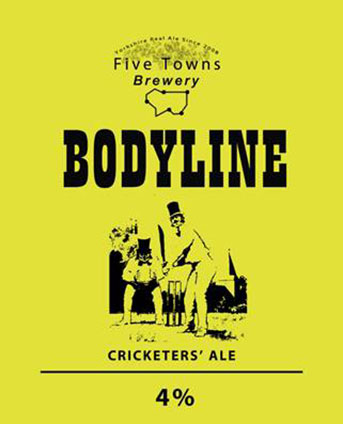 Bodyline brewed by Five Towns Brewery