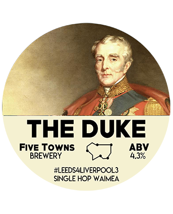 duke brewed by Five Towns Brewery