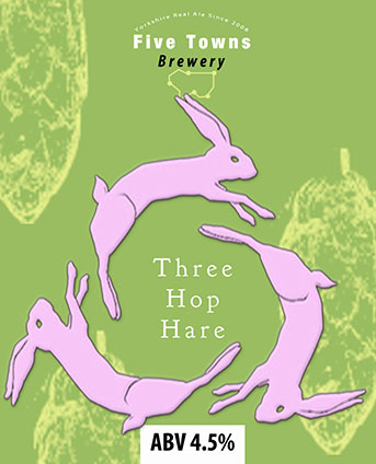 Three Hop Hare brewed by Five Towns Brewery