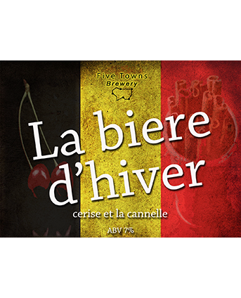 La biere d'hiver brewed by Five Towns Brewery