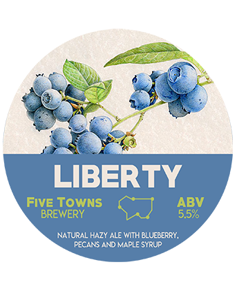 liberty brewed by Five Towns Brewery