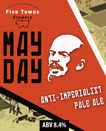 may day brewed by Five Towns Brewery