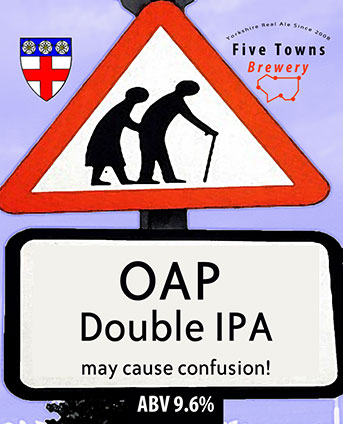 OAP brewed by Five Towns Brewery