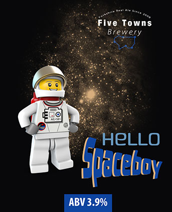 hello spaceboy brewed by Five Towns Brewery